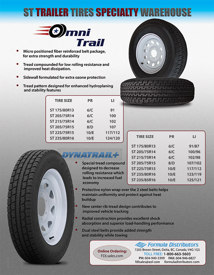 St Trailer Tire Products From Formula Distributors