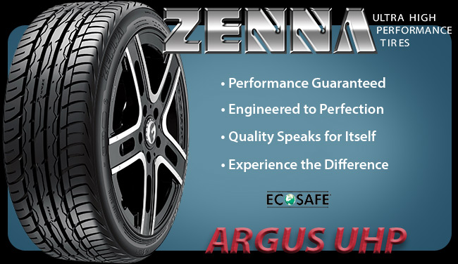 Zenna Argus UHP tire from Formula Distributors